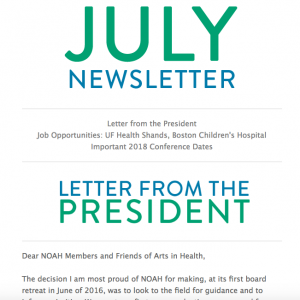 NOAH July Newsletter