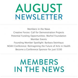 NOAH August Newsletter
