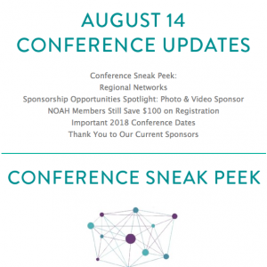 NOAH COnference Newsletter August 14 2018