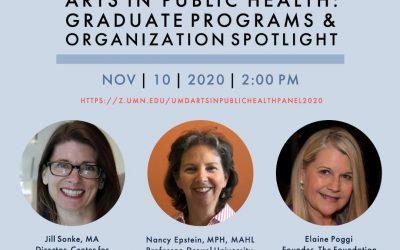 Arts in Public Health: Graduate Programs and Organization Spotlight