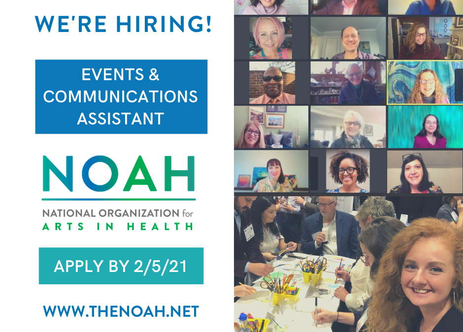 We're Hiring! Events and Communications Assistant